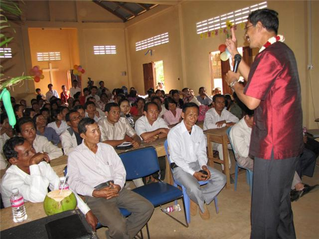 Barnabas preaching dedication at Chhouk Church
