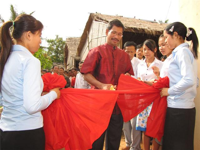 Ribbon cutting, Living Hope in Christ Church-Chhouk, Cambodia