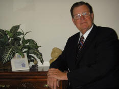 Dr. C. R. Oliver in his study at Zadok Publications